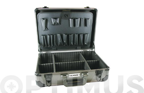 Maleta herramientas abs gris marco de aluminio 450 x 330 x 145 mm