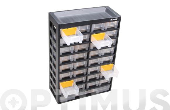 Clasificador apilable plastico 435 x 300 x 135 mm 31 compartimentos