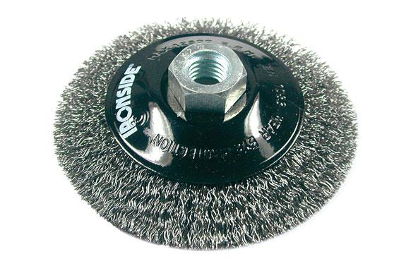 Cepillo circular conico pua acero m14 ø 100 x 10/0,30