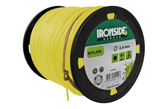 Hilo nilon redondo ø 2,4 mm., 81 m. amarillo