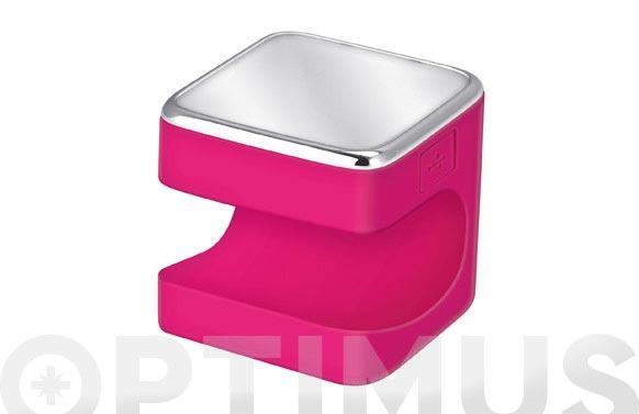 Linterna silicona led cuby 5cm 1,5w fucsia