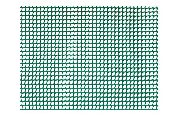 Malla cuadranet premium (malla 5x5mm) 400gr/m2 1 x 25 m verde