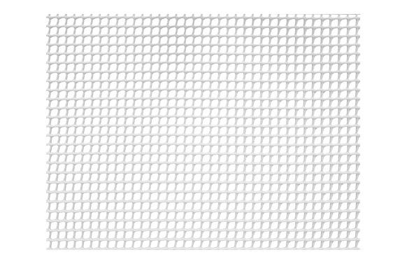 Malla cuadranet (malla 5x5mm) 300gr/m2 1 x 25 m blanco