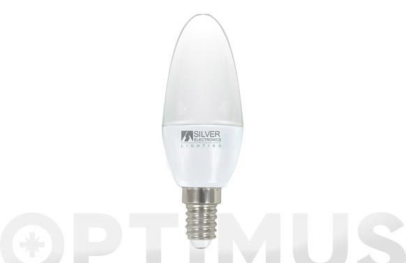 Lampara led vela 4,5w e-14 luz blanca (5000k)