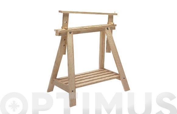 Caballete madera regulable altura
