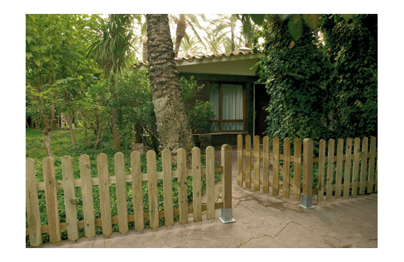 Puerta valla clasica madera (acabado rayado) 80 x 100 cm