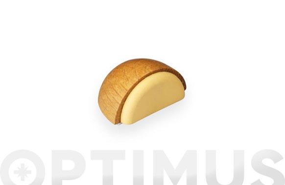Tope madera adhesivo roble