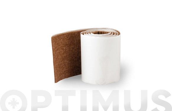 Fieltro sintetico adhesivo marron 1000 x 85 mm