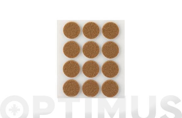 Fieltro sintetico adhesivo marron ø 22 mm