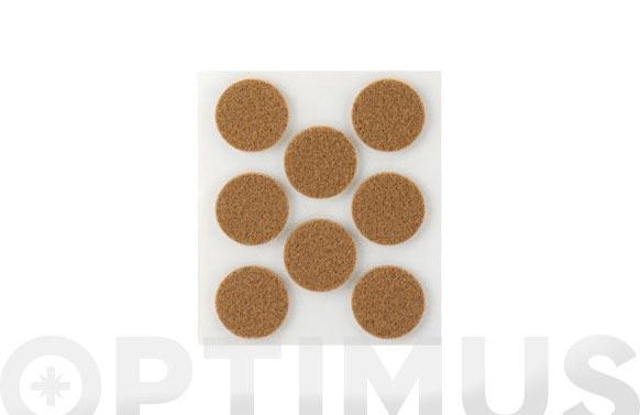 Fieltro sintetico adhesivo marron ø 27 mm