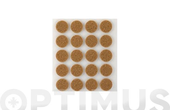 Fieltro sintetico adhesivo marron ø 17 mm