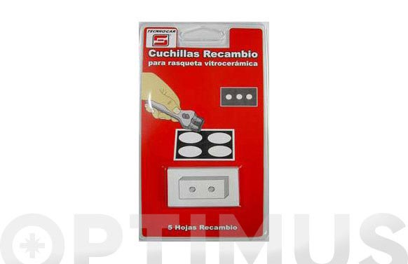 Cuchilla recambio rasqueta vitro 5 uds