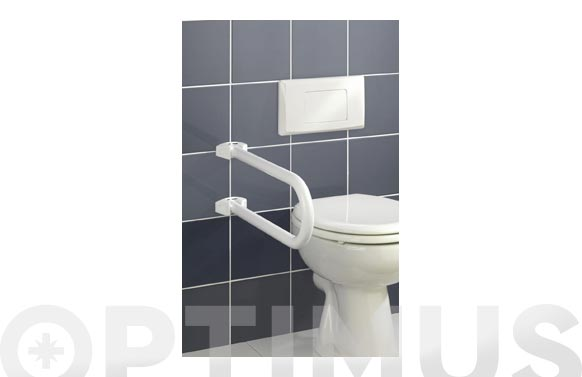 Barra seguridad baño plegable 53x10x21 blanco