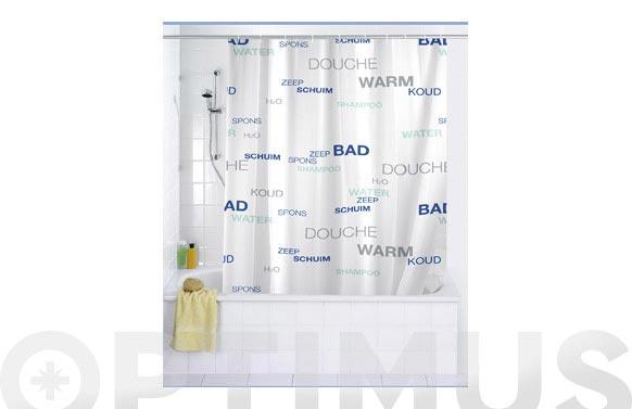 Cortina baño water peva 1.80 x 2.00 m