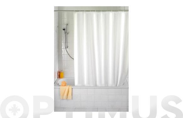 Cortina baño blanco peva 1.80 x 2.00 m
