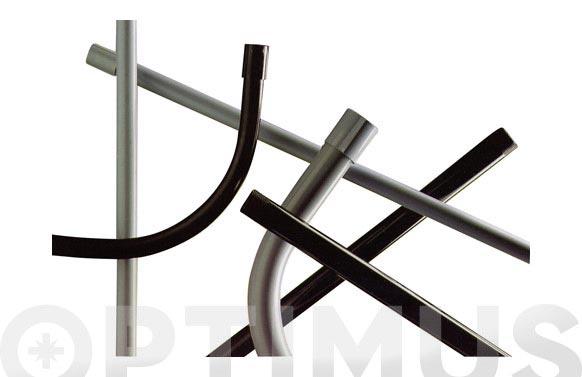 Tubo rigido reforzado gris m25 (tiras de 3 metros)