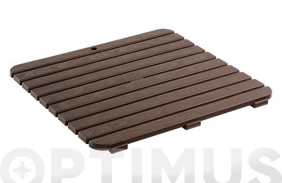 Tarima plato ducha 55 x 55 cm oscura