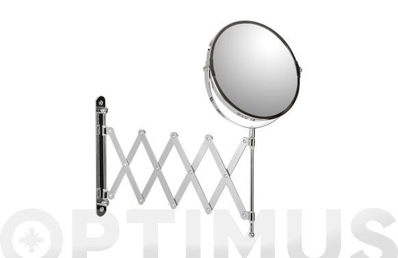 Espejo baño aumento x5 extensible ø 17 cm