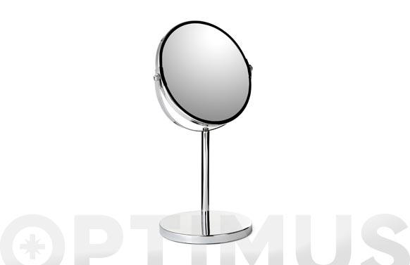 Espejo baño aumento x5 con pie ø 17cm