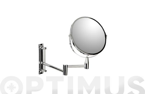 Espejo baño aumento x5 con brazo ø 17cm