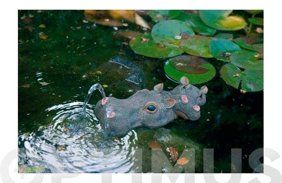 Gargola hipopotamo c/hijo 6,5x34x15