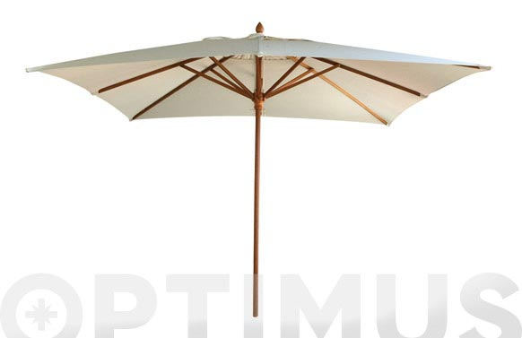 Parasol madera granate 3x3 mt