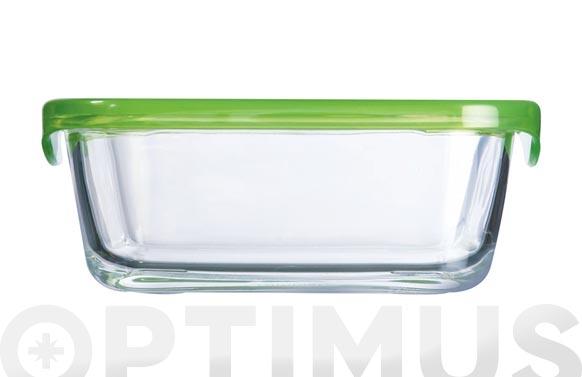 Contenedor vidrio con tapa rectangular 82 cl
