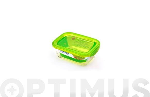 Contenedor vidrio con tapa rectangular 122 cl