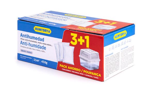 Antihumedad humydry (aparato + 3 recambios) 233-140-8
