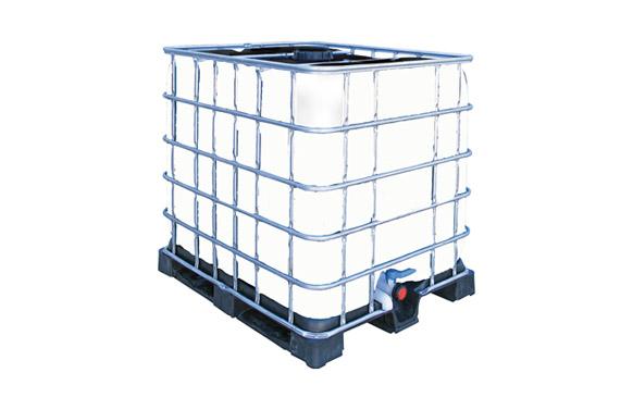 Deposito para agua potable ibc 1.000 litros blanco sobre palet / 117,5 x 120 x 100
