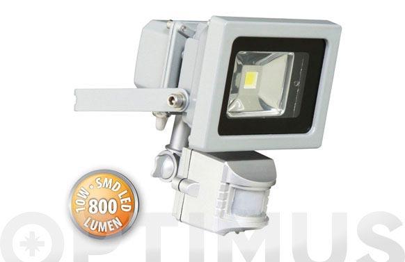 Foco con sensor led smd 10w 6500k 162 x 115 x 114 mm