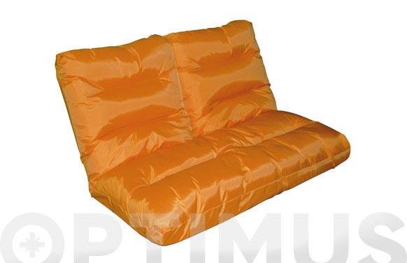 Sofa nylon posiciones 115x114x17cm naranja