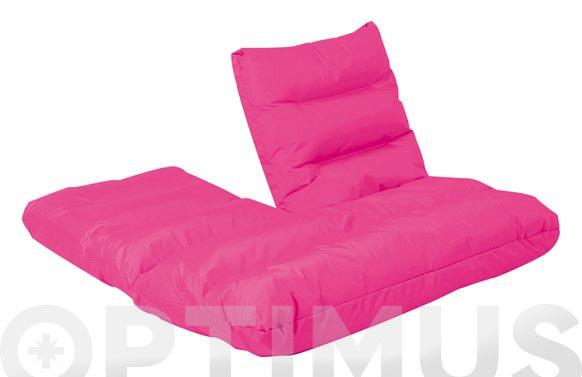 Sofa nilon posiciones 115x114x17cm fucsia