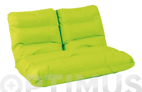Sofa nylon posiciones 115x114x17cm pistacho