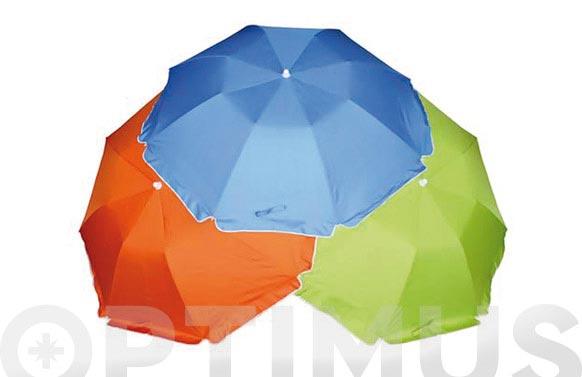 Parasol playa plegable mini 180cm upf50+ (surtido)
