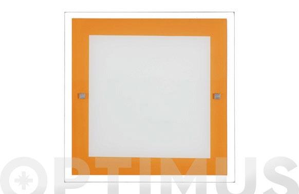 Plafon kin naranja 2x20w e-27 30x30x4cm