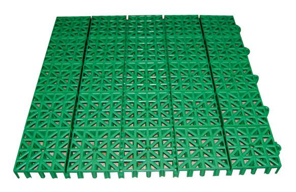 Loseta inerflex 33 x 33 cm verde intenso
