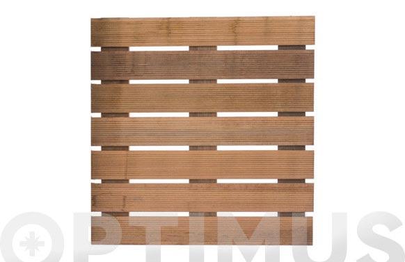 Tarima madera malaga bangkirai 7 lamas 50x50 cm