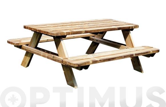 Mesa picnic matisse 165 x 180 x 70 cm