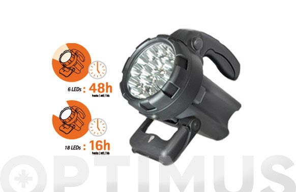Proyector recargable led 18 leds