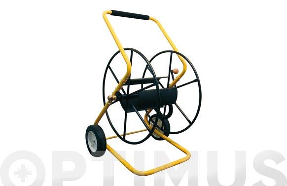 Carro portamanguera metalico profesional 150 m. ø 15 mm.