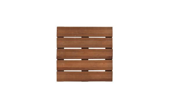 Tarima lamas madera bolenia marron 50 x 50 cm