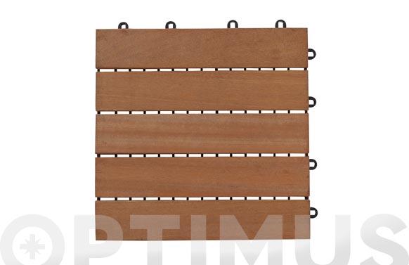 Loseta madera bangkirai flip 30x30 cm c/base