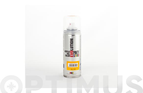 Pintura spray acrilica brillo 270 cc ral 1028 amarillo