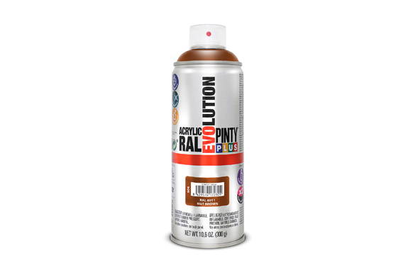 Pintura spray acrilica brillo 520 cc ral 8011 marron