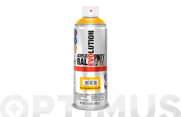 Pintura spray acrilica brillo 520 cc ral 1028 amarillo