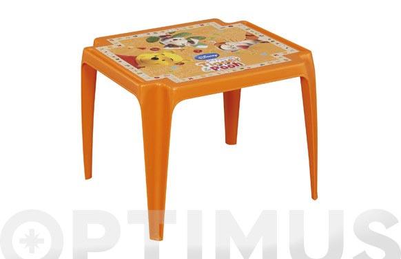 Mesa baby 55x50disney winniepooh naranja