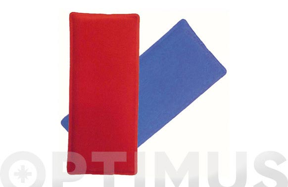 Bolsa gel frio-calor rojo/azul 10 x 24 cm