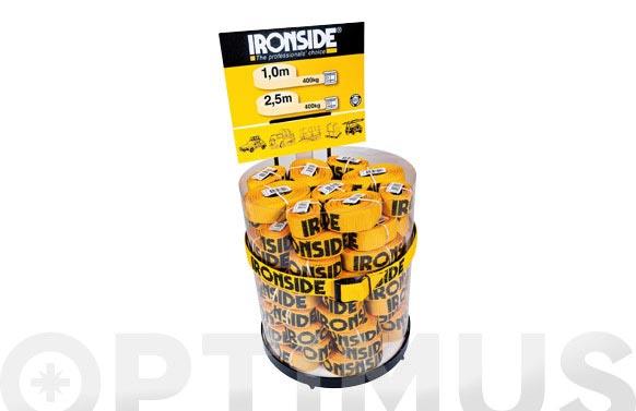 Trinquetes ironside en dispensador 45 u. 100 cm+35 u. 250 cm
