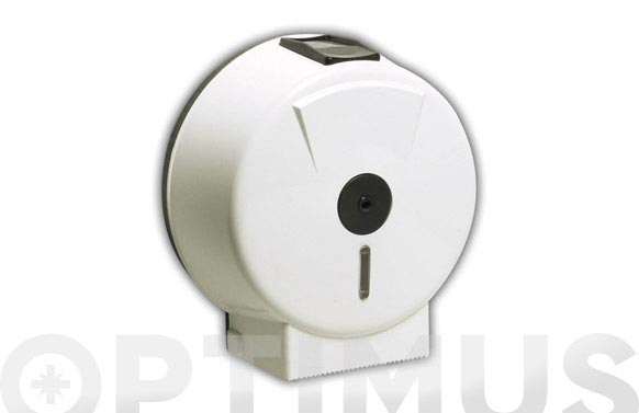 Portarrollo wc industrial eje 45 mm plastico blanco